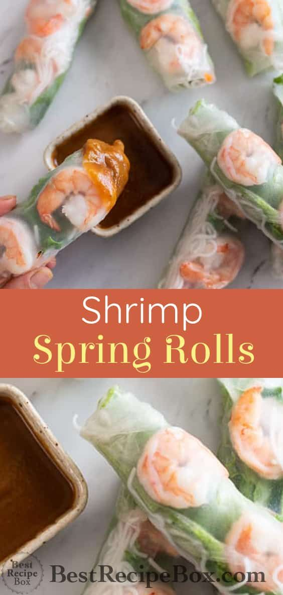 Shrimp Spring Rolls Recipe With Images Spring Roll Recipe