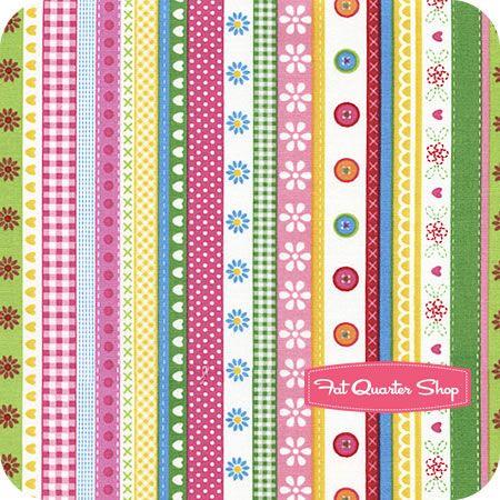 Lief's Simply Sweet Multi Ribbon Stripe Yardage SKU# 22796-X