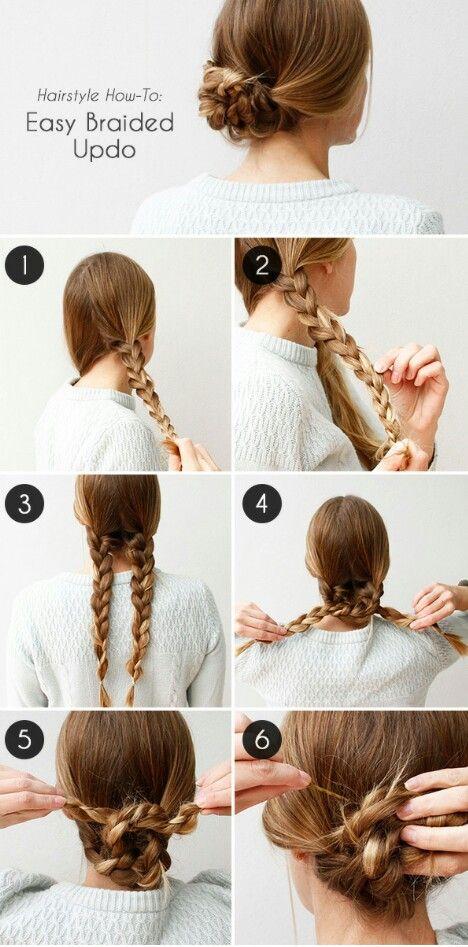 Very elegant simple hairstyles. #quickhair #hair #stepbystep