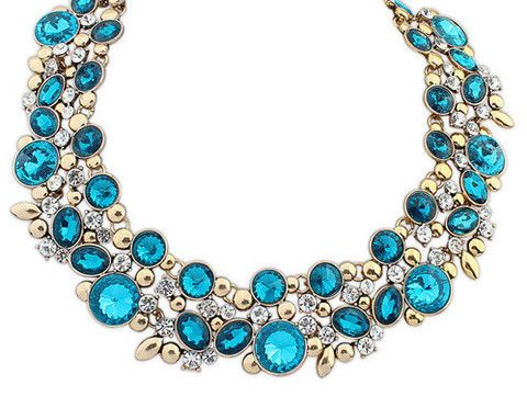 Dazzle Color Crystal Necklace - 4 Colors Available