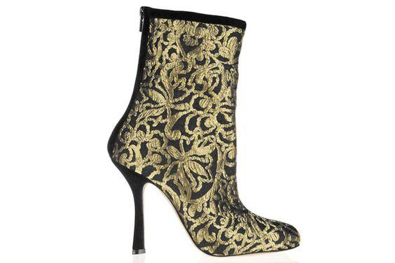 Oscar de la Renta Ella Suede-Trimmed Brocade Boot - Fall 2012's Most OMG-Worthy Shoes - Photos