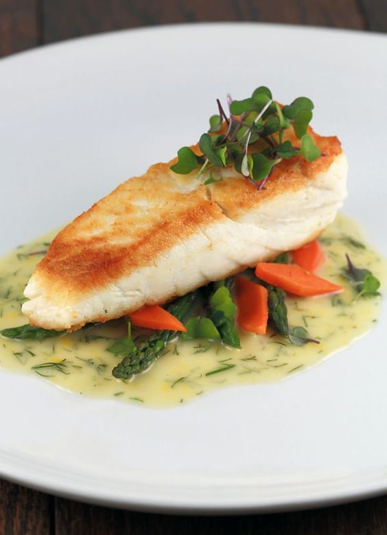 Pan seared halibut with lemon dill sauce | Recipe | Lemon, Sweet and ...