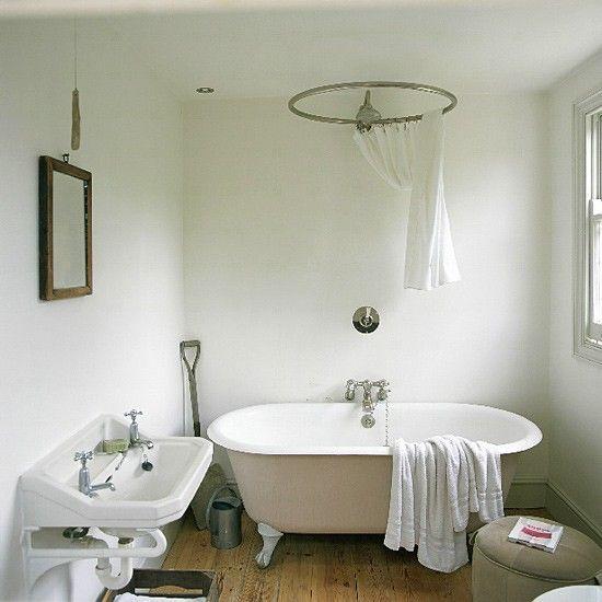 Freestanding Bath Shower Curtain In 2020 Bathroom Freestanding