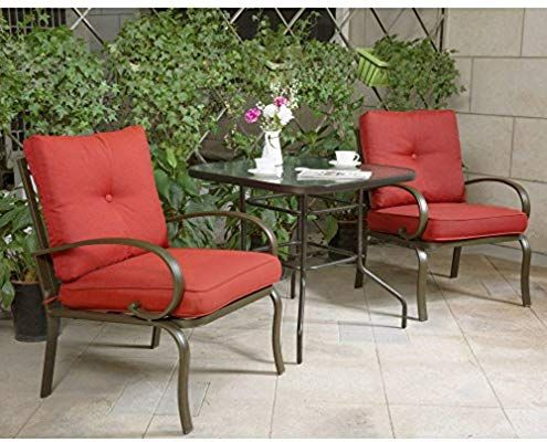 Amazon Com Cloud Mountain Bistro Table Set Outdoor Bistro Set