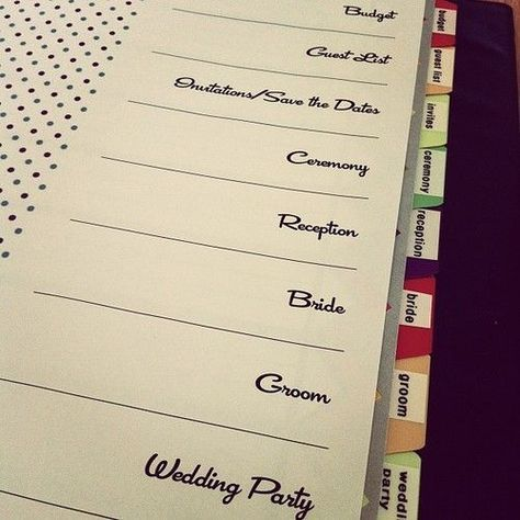 Trendy Wedding Planner Binder Table Of Contents 43 Ideas In 2020 Wedding Planning Binder Wedding Organizer Planner Wedding Planning Organizer