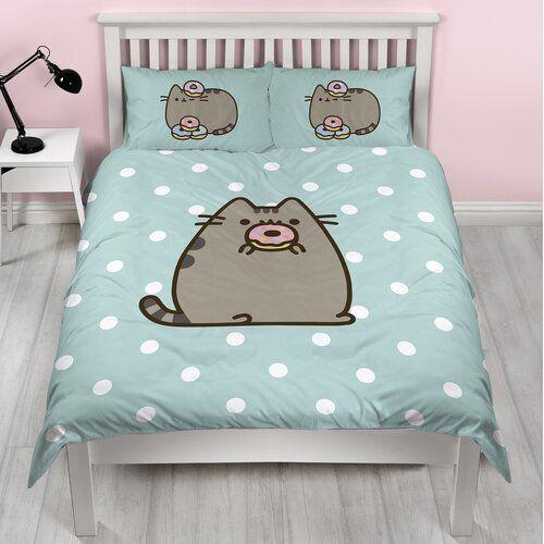 Pusheen Doughnut Double Duvet Set Character World Size Double Pusheen Blanket Duvet Covers Pusheen Cat