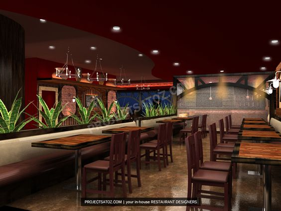 Rustic american style mexican restaurant design