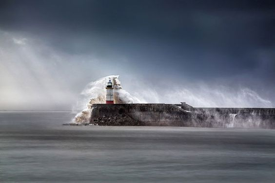 Newhaven Breakwater Lighthouse in East Sussex - England by Awebic