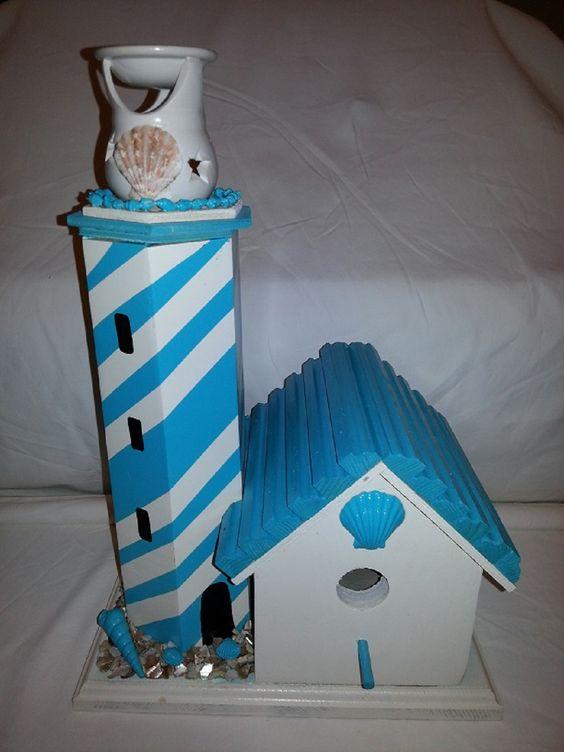 Light blue Light house