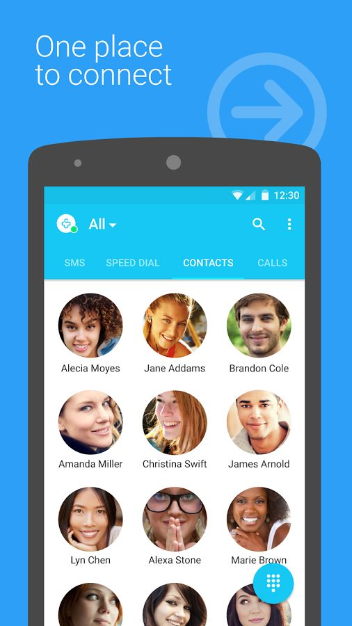 Contacts + Android App