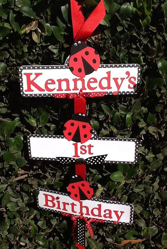 Lady Bug Party Sign on Etsy