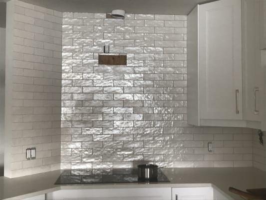 Montauk Gin 2x8 White Ceramic Wall Tile With Satin Finish Ceramic Wall Tiles Wall Tiles Tiles Uk