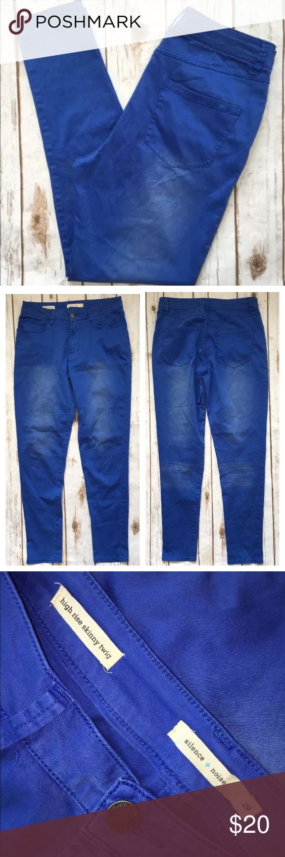 """Silence + Noise Jeans 29 High Rise Skinny Twig UO Tag Size - 29 Waist Measured Across - 15.5"""" Inseam - 29"""" Rise - 11.5"""" Good used condition. Urban Outfitters Jeans Skinny"""