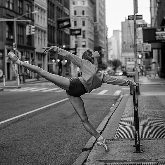 Dane Shitagi documents professional ballerinas on the streets or the subways of New York City II NYC