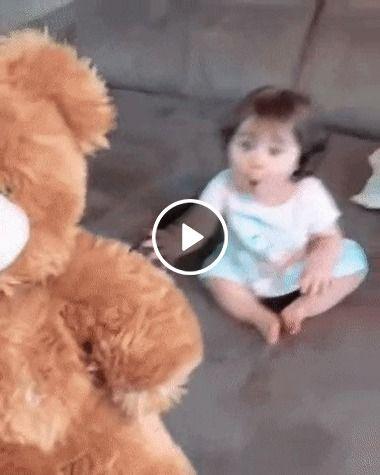 Ela gostou tanto do ursinho dois fofos.
