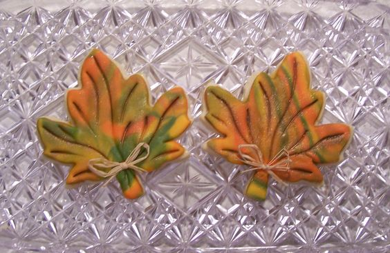 - large fall leaves
