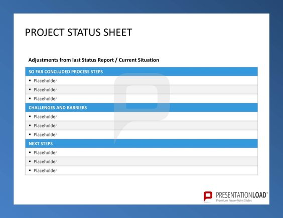 Project Status Sheet - Six Sigma u2013 PowerPoint-templates @ http - project status sheet