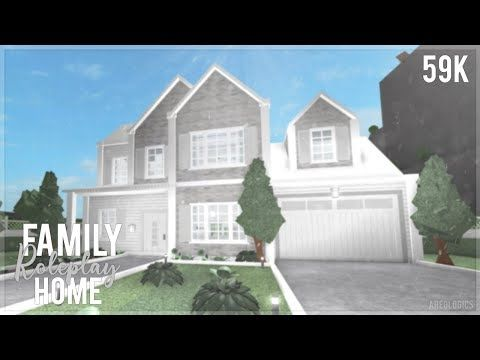 Bloxburg Family Roleplay Home Speed Build In 2020 House