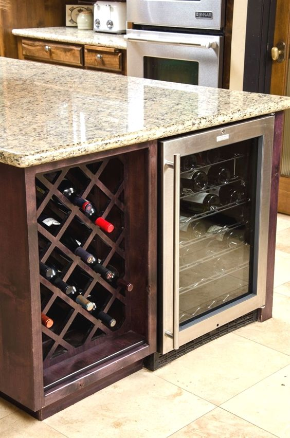 Hmm Combine An Unfinished Cabinet With A Wine Cooler Storage