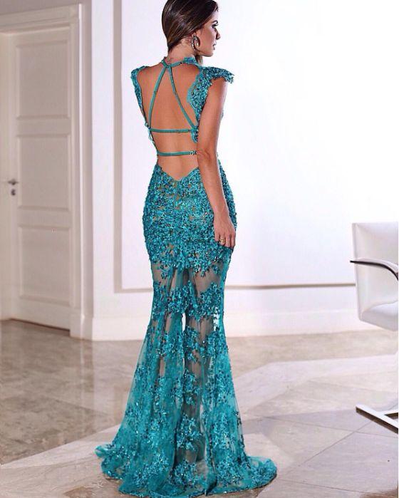 Vestido de Renda 2020 Longo