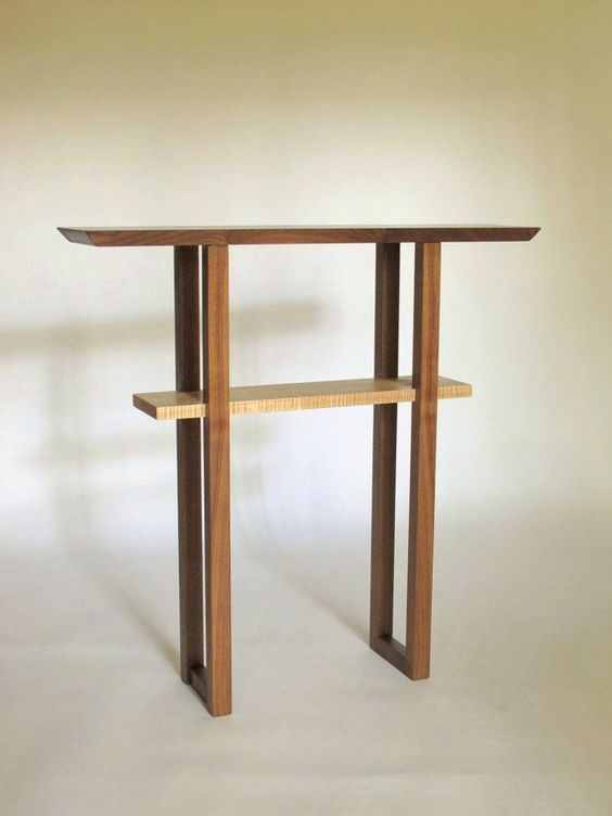 Very Narrow Console Table For Small Spaces Hall Table Entry Etsy In 2020 Narrow Console Table Small Console Tables Very Narrow Console Table