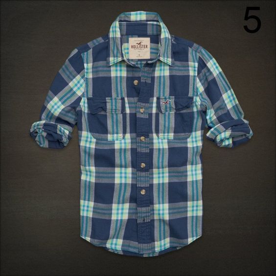Hollister by Abercrombie Men's Soft Button Up Flannel Shirt All Size   eBay