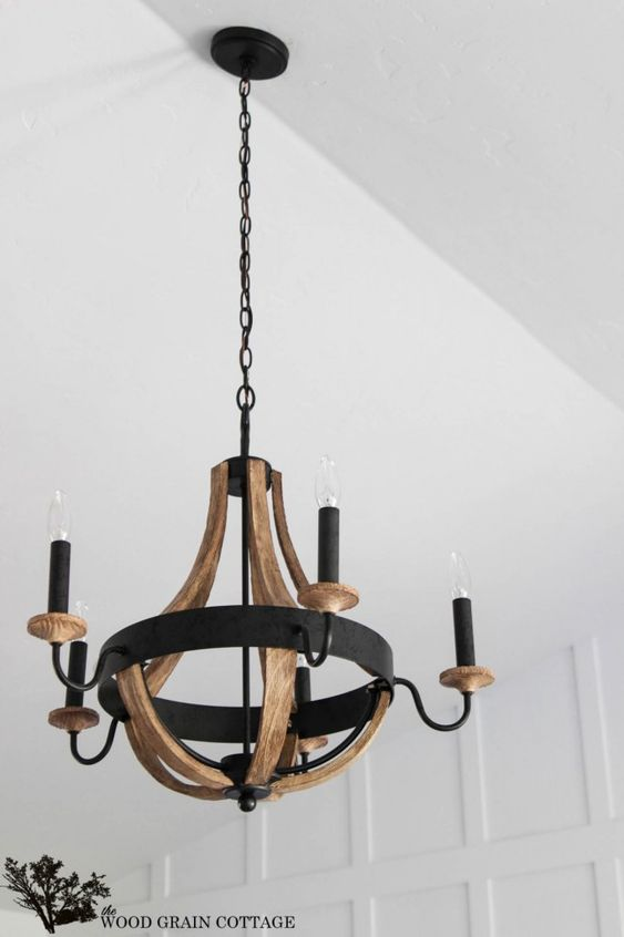 Living Room Wood Chandelier by The Wood Grain Cottage