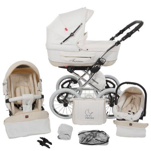 THIS IS THE ONE I WANT!!!! New Love Lux4kids Turran Leatherette 3in1 Pram Travel System with car seat - ON STOCK !!!*new* (White Wheels) $1,700 :(