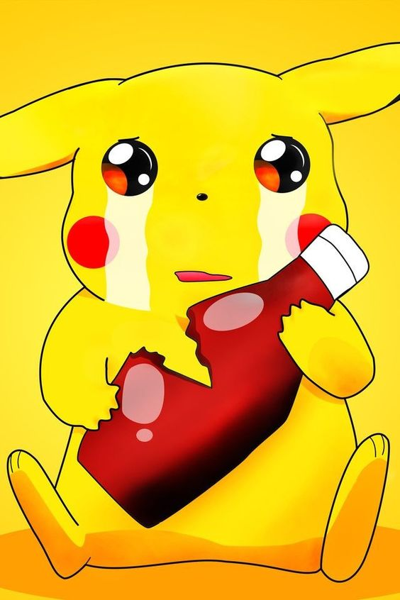 Picachu and his ketchup this is a better love story than ...