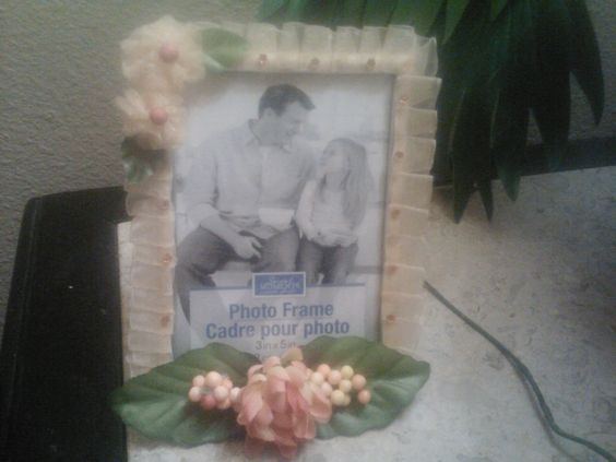 peach picture frame