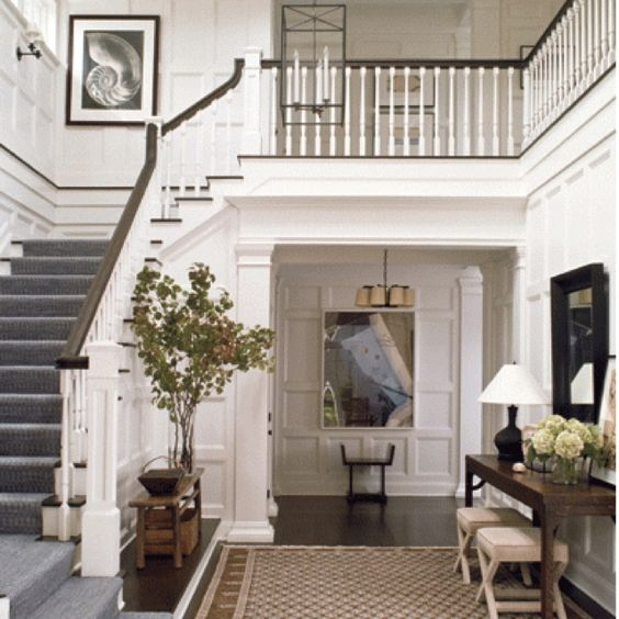 Beautiful Front Hall And Staircase: Entryway, Staircases And Overalls On Pinterest