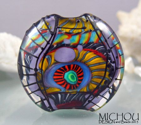 Art glass focal bead by michou p anderson by michoudesign for Anderson art glass