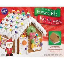 Wilton 2104-1915 Fully Assembled Gingerbread House Kit, Petite