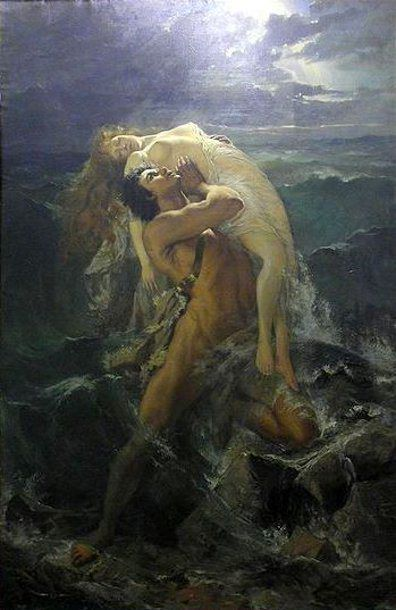 Paul Merwart (1855 – 1902, Polish)The Flood