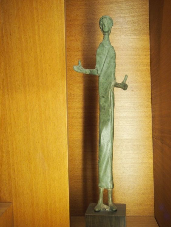 Diana was not just a huntress, but most importantly a goddess of interstices; for example, a stairwell, or a battle-field -- the space between two opposing armies being as dangerous a passage as the one through a forest or birth canal. This skeleton-key figure suggests uncertainty and inchoateness, a shadow slipping by between the hours of dawn or dusk.