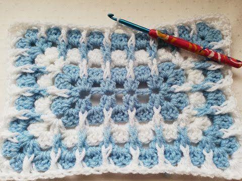Granny Rectangle With A Twist Crochet Tutorial Crochet Nuts Youtube Crochet Blanket Patterns Crochet Stitches Tutorial Crochet Ponytail Hat Pattern