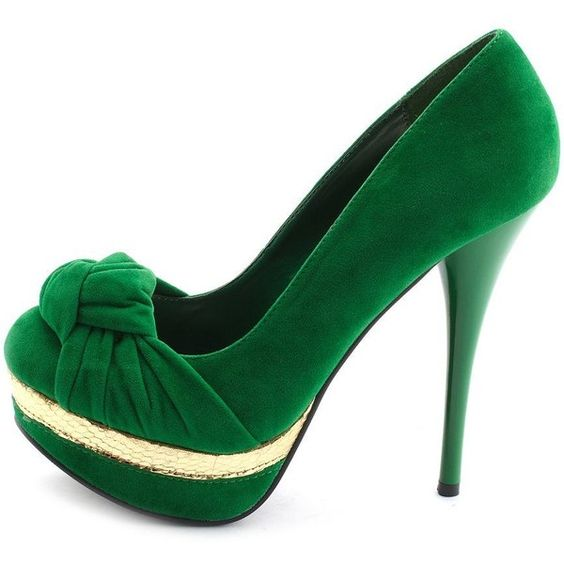 Knotted Velvet Platform Pump ($20) ❤ liked on Polyvore