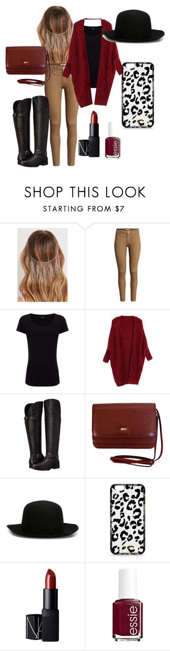 """""""Fall Love"""" by deshae27 ❤ liked on Polyvore featuring Forever 21, H&M, Joseph, Naturalizer, ISABEL BENENATO, Victoria's Secret, NARS Cosmetics and Essie"""