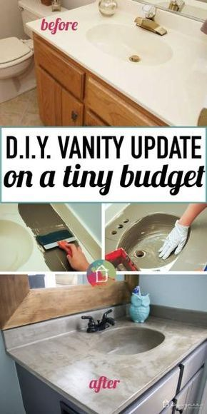 Do You Have Outdated Cultured Marble Vanities In Your Home You Can Totally Transform Them For Around 20 Learn All Ab Diy Remodel Vanity Makeover Diy Vanity
