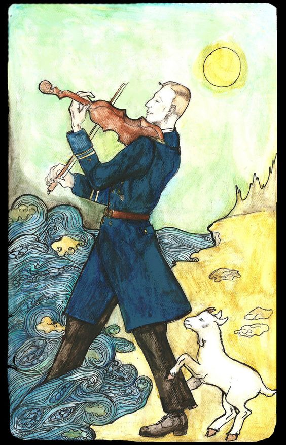 The Fool from the Heydrich Tarot