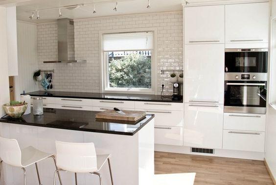 Plan de travail cuisine 50 id es de mat riaux et couleurs - Photo cuisine avec carrelage metro ...