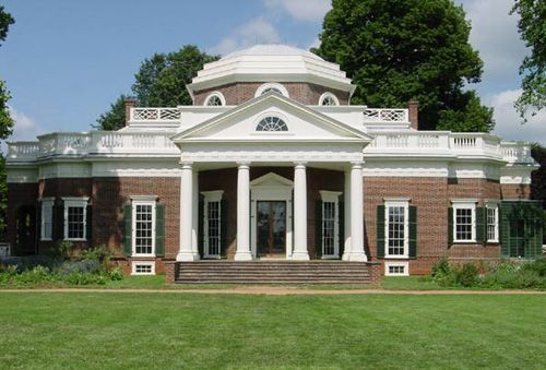 Thomas Jefferson was unquestionably America's greatest amateur architect, and Certainly Monticello, whose West Front is depicted here, is its most beautiful house--amateur or professional. Thomas Jefferson Foundation