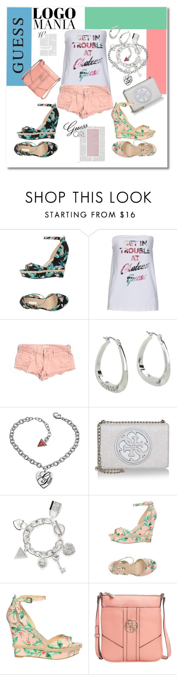 """""""GetInTrouble"""" by andrea2andare ❤ liked on Polyvore featuring мода, GUESS и polyvoreeditorial"""