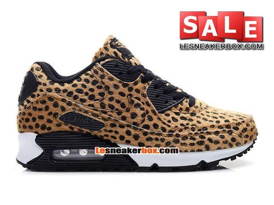 NIKE AIR MAX 90 PREMIUM TAPE - CHAUSSURES NIKE SPORTSWEAR PAS CHER POUR HOMME Leopard imprimé animal/Noir/Gomme marron 333888-036