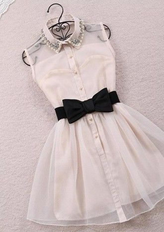 collared dress collar vintage dress cocktail dress party dress white dress belted dress bow belt bow bow dress cream dress mini dress sleeveless dress dress black dress either colour love these dresses pearl black white rhinestones bows fluffy tulle skirt black bow illusion buttons homecoming black bow tie belt belt studded collor dress best pretty black and white black bow dress black and white dress black and white alternating dresses tumblr dress bow tie sleeveless short button up cute…