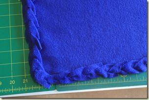 No Sew Blanket Edging
