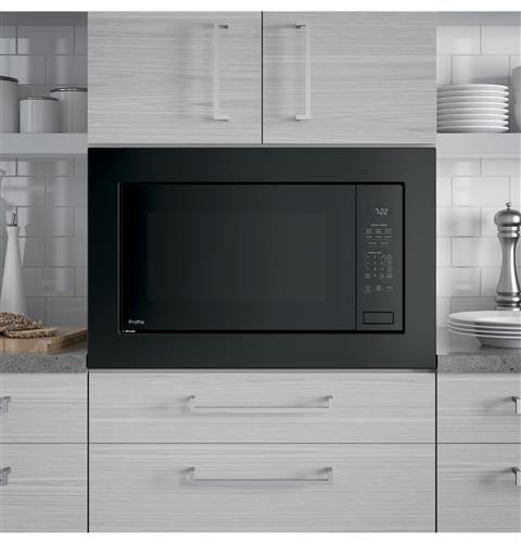 Ge Profile 2 2 Cu Ft Built In Sensor Microwave Oven Peb7227dlbb Built In Microwave Black Microwave Countertop Microwave