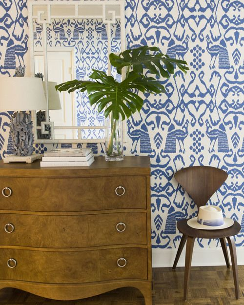 Amazing Blue and White Traditional Interior Design Ideas! #traditional #wallpaper #blue