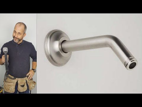 How To Change A Shower Arm Youtube Shower Heads Shower Arm Diy Projects