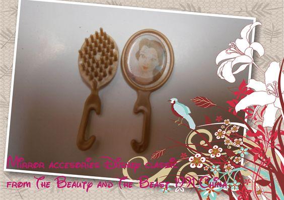 accesorios cepillo para el pelo y espejo magico Beauty and the Beast